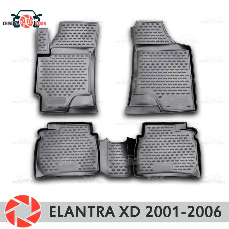 Tapetes para Hyundai Elantra XD 2001-2006 tapetes antiderrapante poliuretano proteção sujeira interior car styling acessórios