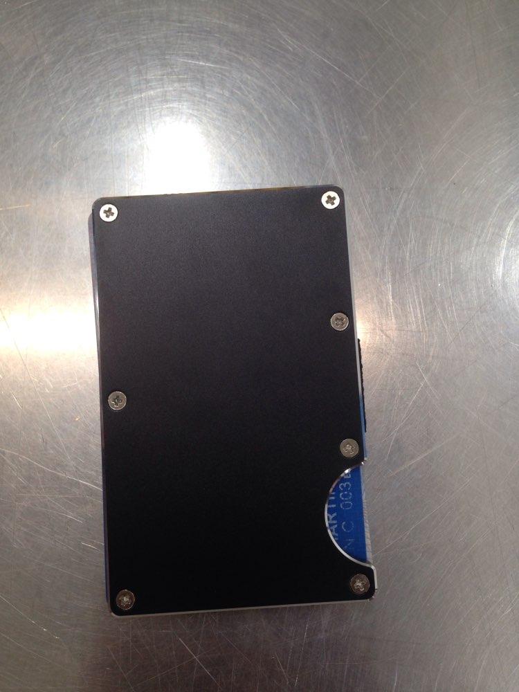 2019 Hot Multifunctional Fashion Silver Edge Aeronautical Aluminum Alloy Card Holder Case Anti-magnetic Card Holder Wallet Bag photo review