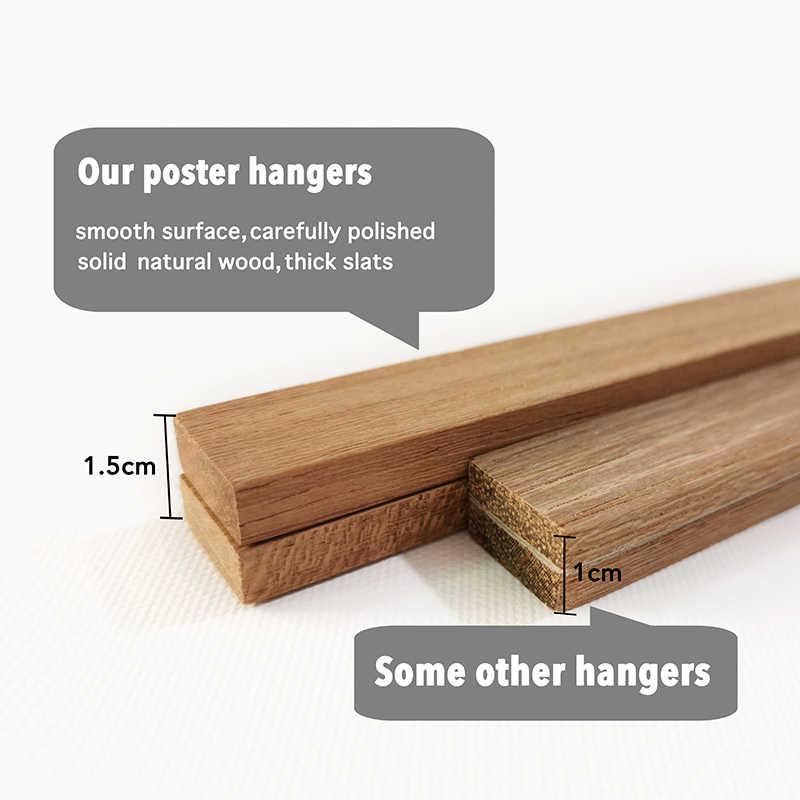 المغناطيسي المشارك شماعات إطار الصورة الصورة ، إطار خشبي ل قماش جدار الفن طباعة اللوحة ، خشب الساج شماعات الإطار