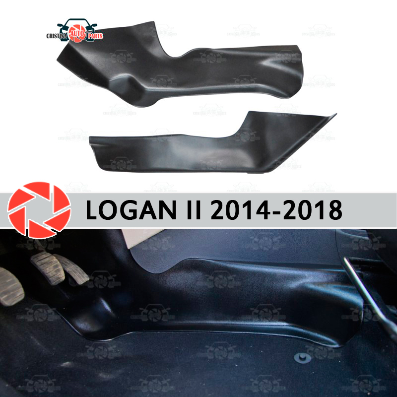 цена на Protective plate cover of inner tunnel for Renault Logan 2014-2018 under feet trim accessories protection carpet car styling