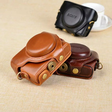 PU Leather Camera Case Cover Bag for Sony Cyber-shot RX rx10