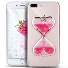 OLOEY for Case iPhone 5 5S SE 6 6S 6Plus 7 8 Plus X Cover Ultra Slim Hourglass TPU Funda Coque