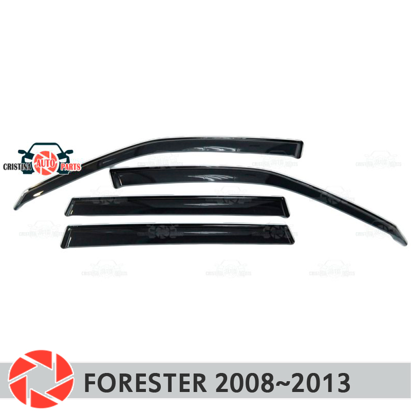 Window deflector for Subaru Forester 2008~2013 rain deflector dirt protection car styling decoration accessories molding huier hand sew car steering wheel cover black leather for subaru forester 2013 2015 legacy 2013 2014 outback 2013 2014 xv 2013