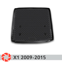 For BMW X1 2009 2015 trunk mat trunk floor rugs non slip polyurethane dirt protection interior trunk car styling