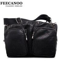 Feecanoo Men Bag Men Messenger Bags Mens Leather Shoulder Bag Men S Travel Bags High Quality