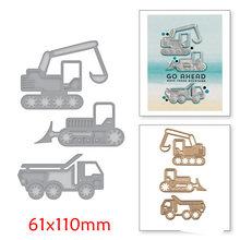3Pcs Tractors Car Metal Cutting Dies