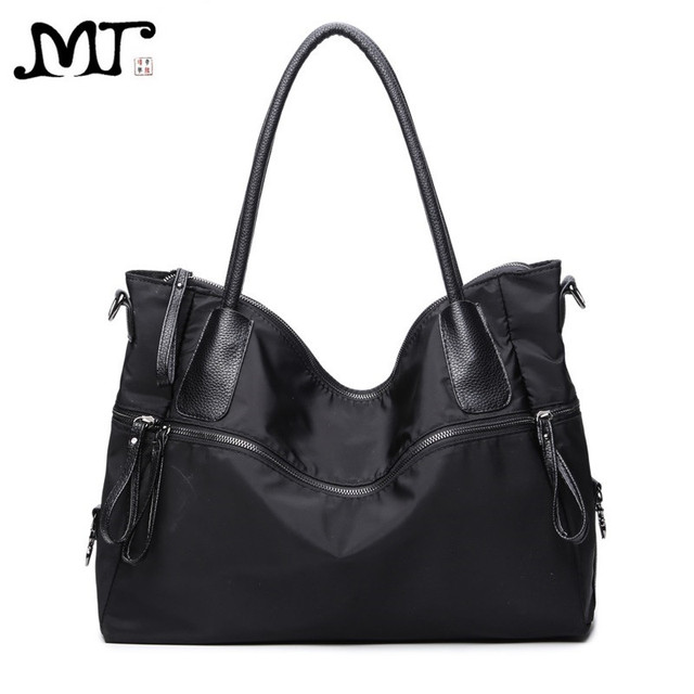 MJ Brand Design Female Bags European and American Style Large Casual Black  Oxford Handbag Shoulder Bag 44918f71ccde8
