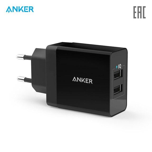 Сетевое зарядное устройство Anker 24W 2-Port USB Charger официальная гарантия, быстрая доставка