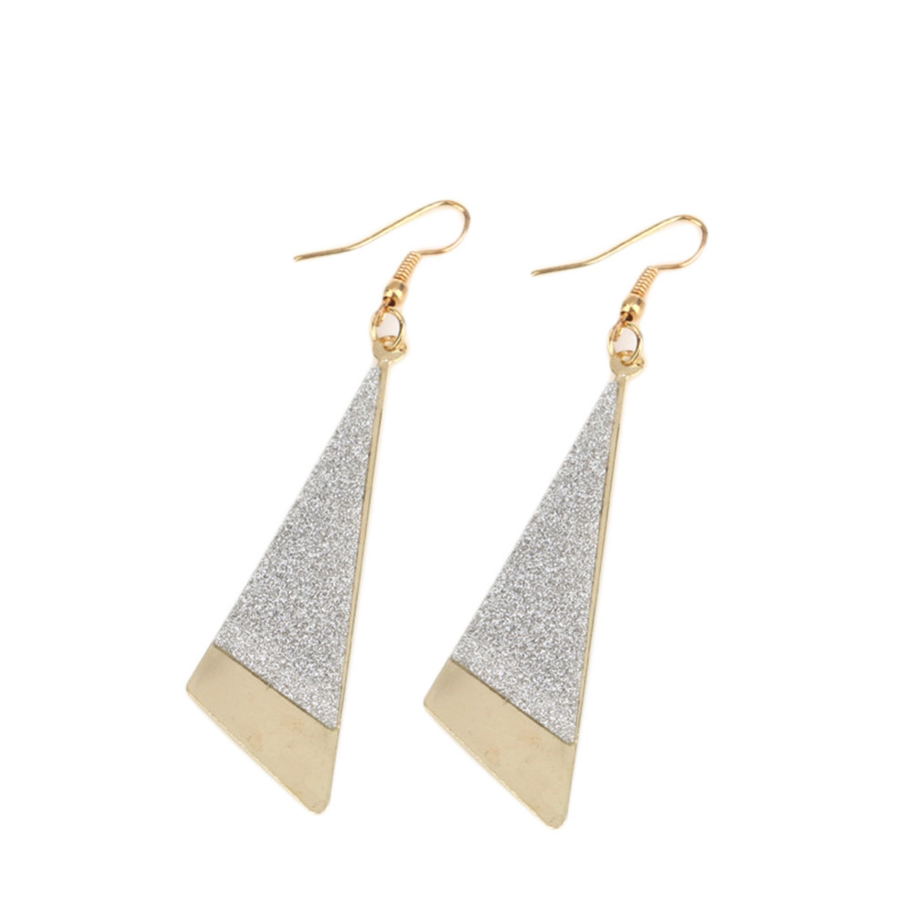 Charming Jewelery Accessories Retro Gold Silver Plated Geometric Woman Earrings Drop Shipping