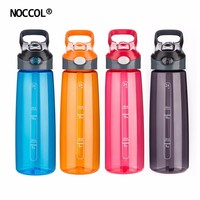 NOCCOL 700ML Sport Drinking Water Bottle Outdoors Food Grade Eco Friendly Tritan Healthy Colored Straw Type