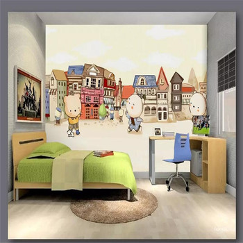 Cartoon childrens room background professional production mural factory wholesale wallpaper custom photo wall