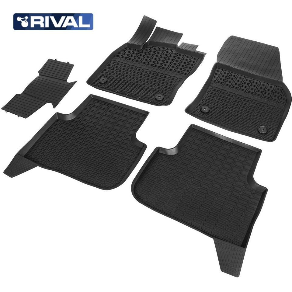 For Volkswagen Tiguan 2017-2019 rubber floor mats into saloon 5 pcs/set Rival 65805002