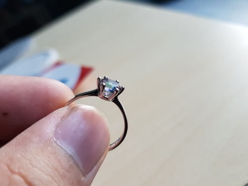 Classic Round Rainbow Topaz Ring photo review