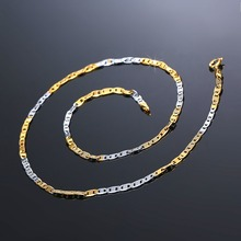 GUOLANSE Vintage Design Flat Chain Necklaces Unique Women Elegant Link Chain Necklace Hip Hop Jewelry Wholesale Price BA0006