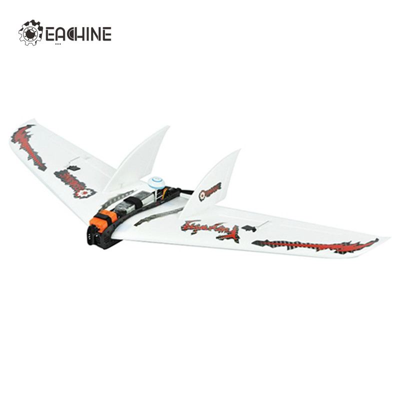 2017 New Arrival Eachine Fury Wing 1030mm Wingspan Carbon Fiber EPO FPV Racer Flying Wing RC Airplane KIT Plane Aircraft Toys x uav mini talon epo 1300mm wingspan v tail fpv rc model radio remote control airplane aircraft kit