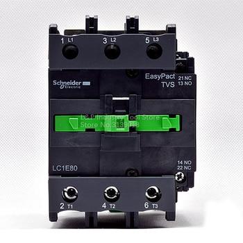 100% New Original Schneider LC1-E EasyPact TVS Series LC1E80M5N 37KW-380V 80A Contactor AC220V 50HZ Updated To LC1N80M5N