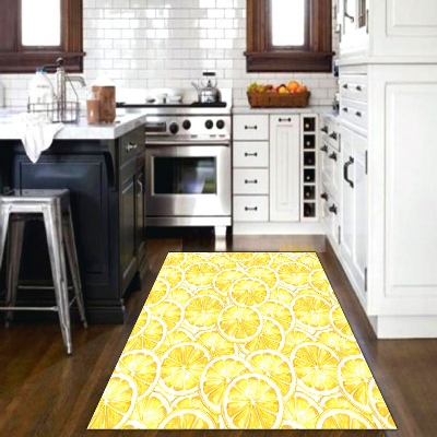 Else Yellow Lemons Fresh Fruits Vegetable 3d Print Non Slip Microfiber Kitchen Modern Decorative Washable Area Rug Mat