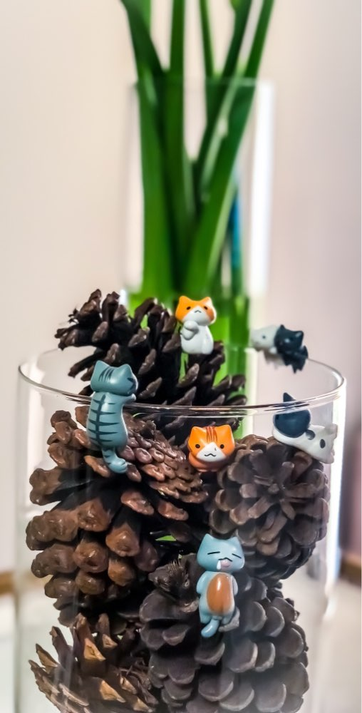 Hot sell 6 Pcs/Set Cute Cartoon Lazy Cats For Micro Landscape Kitten Landscape Home Garden Decorations Random Color