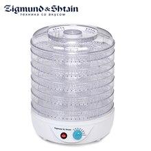 Zigmund& Shtain ZFD-400 Сушилка электрическая для овощей и фруктов с прозрачными секциями, 500 Вт, Регулировка температуры 35-70°С, 5 съемных секций, Вентилятор для равномерной сушки овощей и фруктов