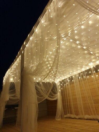 Fios de LED Festival Festival Cordas