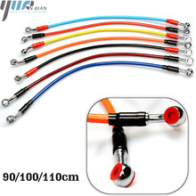 Universal Motorcycle Brake Oil Hose Line Pipe Hydraulic Reinforced Stainless Steel Braided Fit ATV Dirt Pit Bike 900MM 1100MM