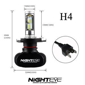Image 3 - NIGHTEYE 8000LM H4 9003 HB2 Car LED Headlight Kit Replace Bulbs Lamp Hi/Lo Beam Car Led headlight bulbs