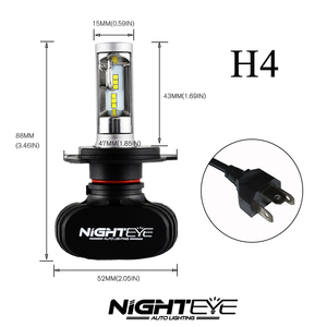 Image 3 - Nighteye 8000LM H4 9003 HB2 車の led ヘッドライトキット電球を交換ランプの hi/lo ビーム車の led ヘッドライト電球