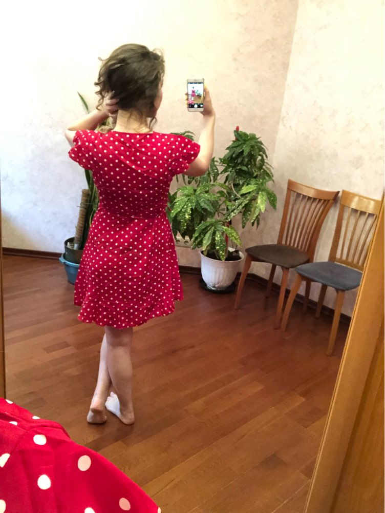 Summer Polka Dot Wrapped Dress V Neck Ruffles Sexy Mini Dress Slim Bodycon Vacation Beach Smocks Korean Fashion photo review