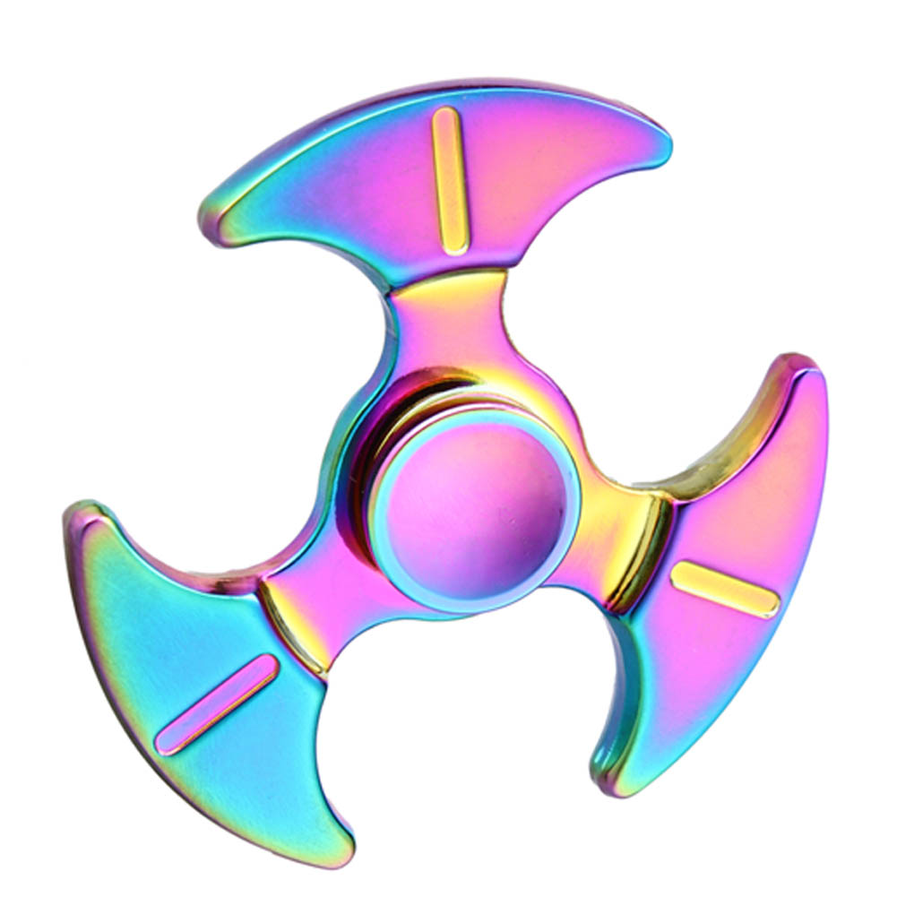 High Speed Hand Fidget Spinner Metal Triangular Gyro Stress Wheel Alloy Sickle Shape Finger Spinner Relieve
