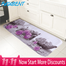 FOKUSENT High Quality Floor Mat Printing Flowers and Red Boat Doormat Rugs Carpets Washable Soft Flannel Door Mat
