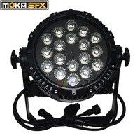 1pcs/lot 18X15w Waterproof Par Lights Led RGBWA 5 in 1 Par Lighting DMX LED for Nightclub DJ Wedding Party Decorations
