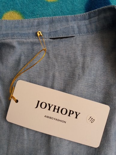 Girl's Romantic Style Long Denim Shirt photo review