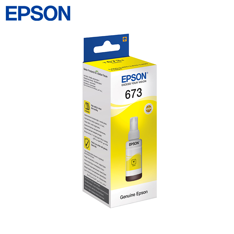 Cartridge Epson Yellow C13T67344 70ml (for L850/L805/L810/L1800) тонер cactus cs ept6734 для epson l800 l810 l850 l1800 yellow
