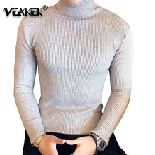 2018 Fashion Mens Turtleneck Sweaters Pullover Male Autumn Winter Slim Fit Sweater Trendy Black Turtle Neck Knitted Pullovers