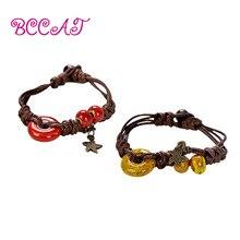 BCCAT 2pc custom couple Bracelet Handmade ceramic Beads Charm bangle fashion lucky Jewelry love gift