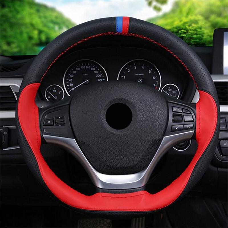 ZHIHUI DIY car steering wheel cover car covers for SUBARU OUTBACK FORESTER SUBARU XV LEGACY BRZ