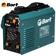 Аппарат сварочный инверторный Bort BSI-220H (Диапазон тока 10-200A, Мощность 5700 Вт, Диаметр электрода 2,5-5 мм, Плечевой ремень в комплекте)