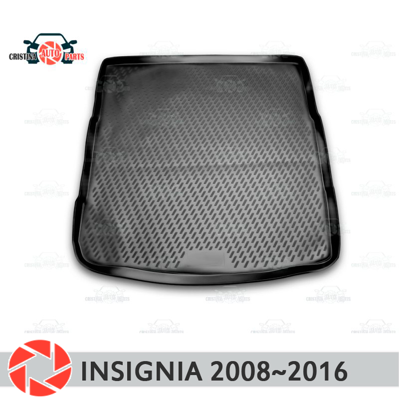 Trunk mat for Opel Insignia 2008~2016 trunk floor rugs non slip polyurethane dirt protection interior trunk car styling