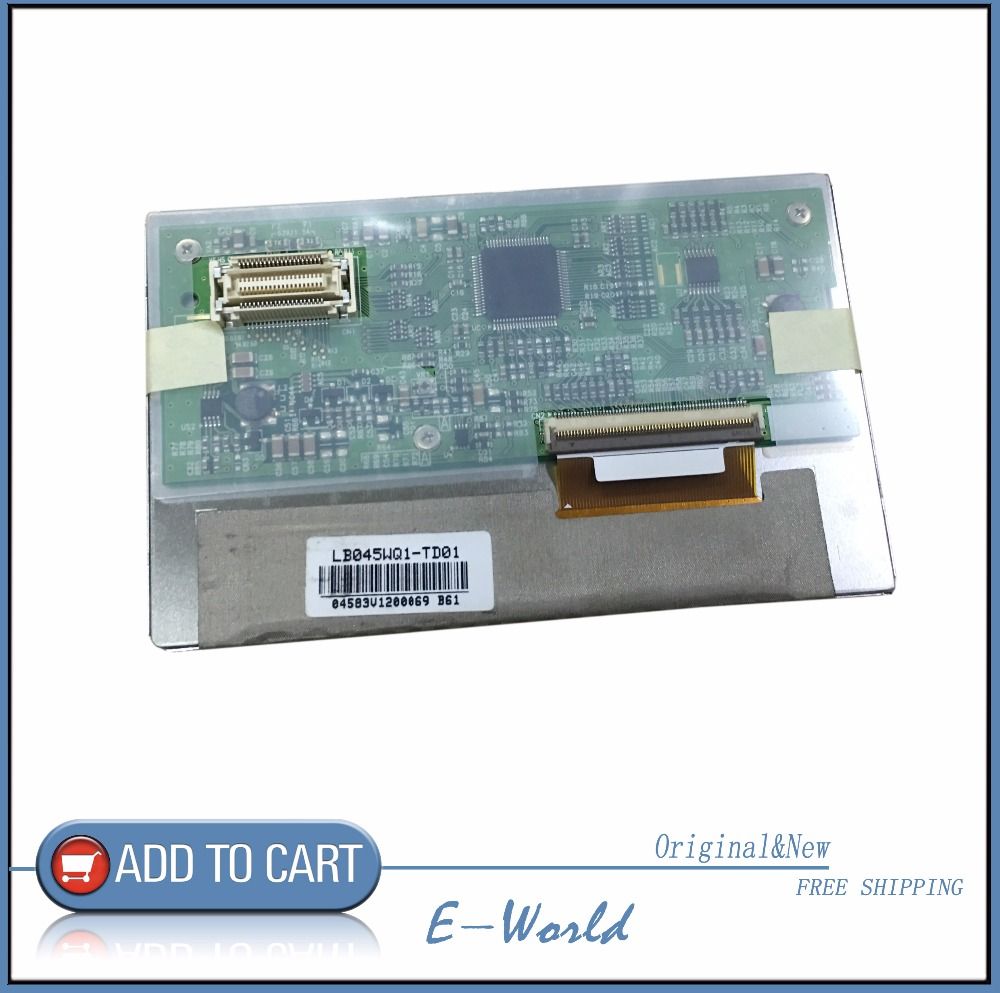 Original 4.5inch LCD screen LB045WQ1-TD01 free shipping b101xt01 1 m101nwn8 lcd displays