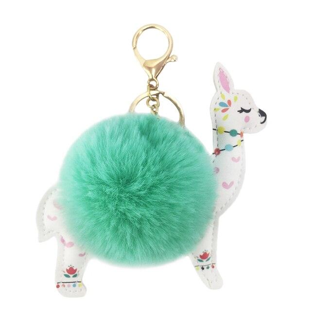 Alpaca Plush Keychain Mawgie