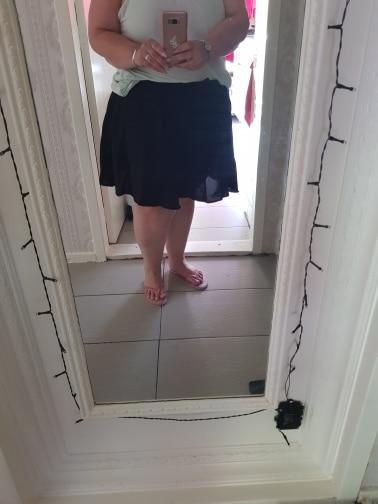 Women Shorts Summer Chiffon Casual Shorts Female Wide Leg Elastic High Waist Shorts Wide Leg Large Size Jupe Femme Plus photo review
