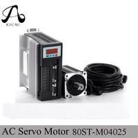 Servo System Kit 80ST M04025 1000W AC Servo Motor + 4N.M 2500RPM 1KW Motor +Single Phase Match Driver AASD 20A+3M Cable