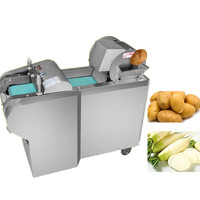 BEIJAMEI electric vegetable cutting machine potatoes carrot cutter and shredder commercial vegetable slicer slicing machine