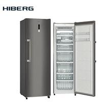 NO FROST, 185 см, 261 л, Ледогенератор, Морозильник HIBERG VFR-35D NFX, 6 ящиков сенсорный дисплей, автономное сохранение холода до 15 часов