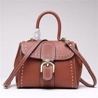 2017 Woman Bag Genuine Leather Bag Designer Handbags High Quality Crossbody Bags For Women Buckle Cow