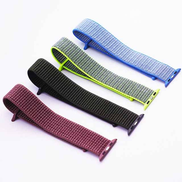 Sport loop Strap For Apple Watch band 42mm 38mm apple watch 4 3 band iwatch band 44mm 40mm correa pulseira 42 44 nylon watchband 2