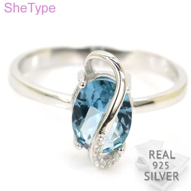 Ravishing 2.7g Top London Blue Topaz Cubic Zirconia Real 925 Solid Sterling Silver Ring 14x7mm