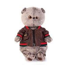 Мягкая игрушка Budi Basa Кот Басик в кожаной куртке, 25 см