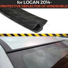 Защитный ДЕФЛЕКТОР ДЛЯ Renault Logan-из лобового стекла резиновая защита аэродинамический автомобильный Стайлинг Накладка аксессуары