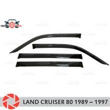 Дефлектор окна для Toyota Land Cruiser 80 1989 ~ 1997 дождь дефлектор грязи Защитная оклейка автомобилей украшения Аксессуары Литья